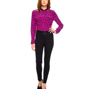 Juicy Couture Silk Heartbreaker Dotty Button Down